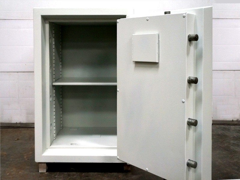 Example of second-user safe - open to show bolt locking mechanism -  as stocked by Trustee Safes, Ireland & UK